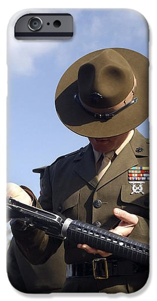 A Senior Drill Instructor Inspects iPhone Case by Stocktrek Images