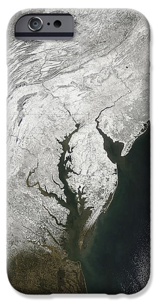 A Severe Winter Storm Along The United iPhone Case by Stocktrek Images