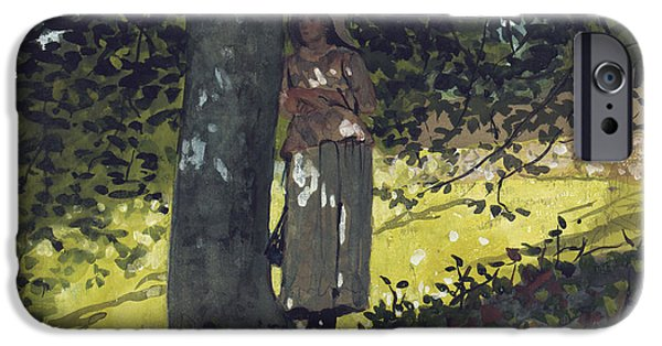 Farm Stand iPhone Cases - A Shady Spot iPhone Case by Winslow Homer