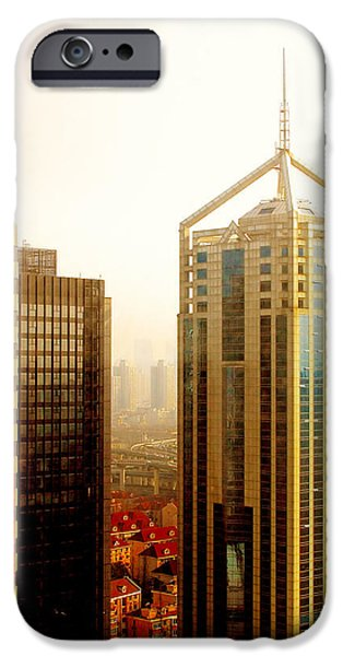 Old And New iPhone Cases - A Shanghai Sunset iPhone Case by Christine Till