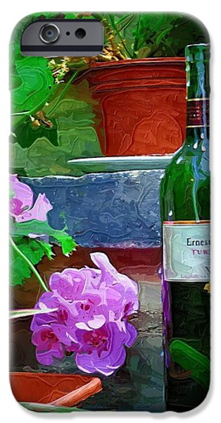 A Sip of Wine iPhone Case by Amanda Moore