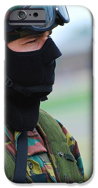 A Soldier Of The Special Forces Group iPhone Case by Luc De Jaeger