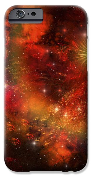 A Star Explodes Sending Out Shock Waves iPhone Case by Corey Ford