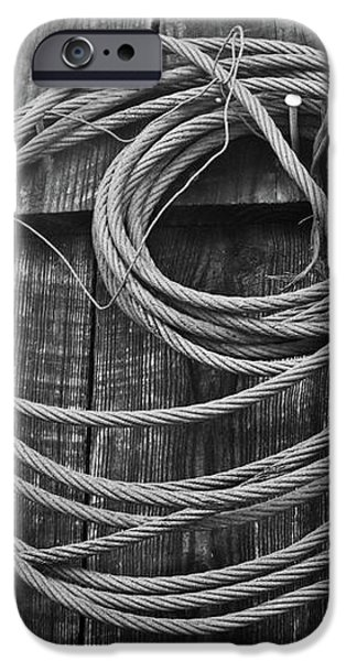 A Study of Wire in Gray iPhone Case by Douglas Barnett