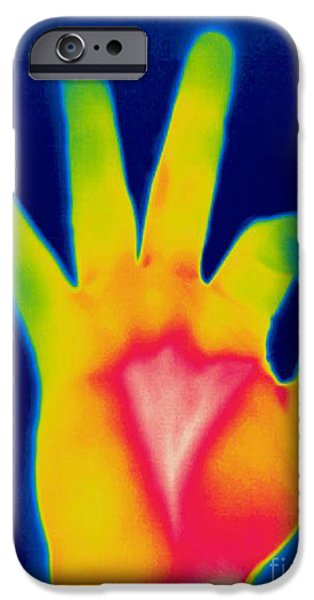 A Thermogram Of A Hand Giving The Ok iPhone Case by Ted Kinsman