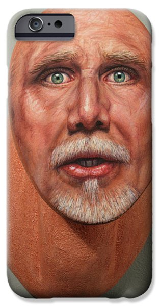 Self iPhone Cases - A Trophied Artist iPhone Case by James W Johnson
