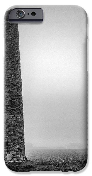 A Twin cornish mine chimneys iPhone Case by John Farnan