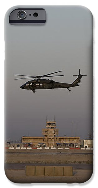 A Uh-60 Blackhawk Helicopter Flies iPhone Case by Terry Moore