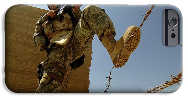 Iraq iPhone Cases - A U.s. Army Soldier Searches iPhone Case by Stocktrek Images