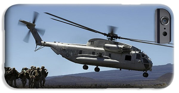 Recently Sold -  - Chicago iPhone Cases - A U.s. Marine Corps Ch-53d Seahawk iPhone Case by Stocktrek Images