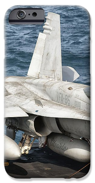 A Us Navy Fa-18c Hornet Tied iPhone Case by Giovanni Colla