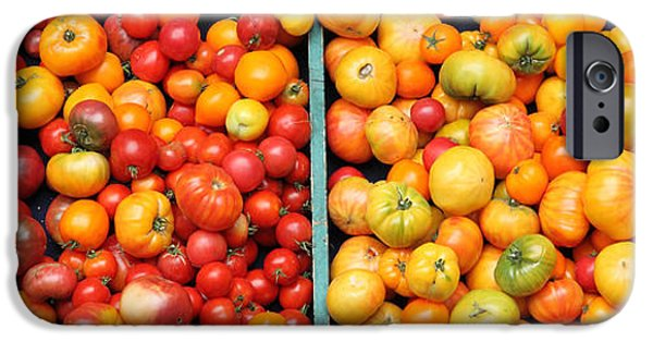Basket iPhone Cases - A Variety of Fresh Tomatoes - 5D17904-long iPhone Case by Wingsdomain Art and Photography