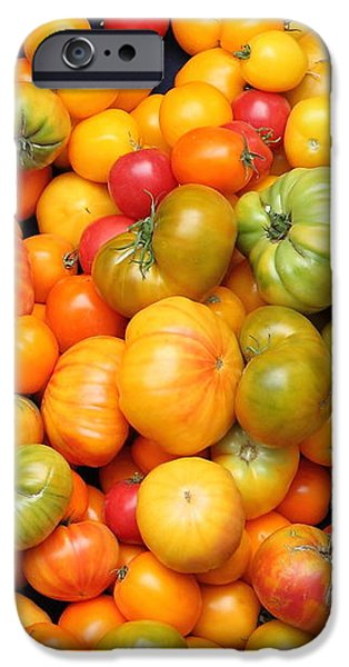 A Variety of Fresh Tomatoes - 5D17904 iPhone Case by Wingsdomain Art and Photography