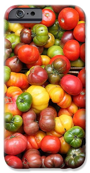 A Variety of Fresh Tomatoes and Celeries - 5D17901 iPhone Case by Wingsdomain Art and Photography