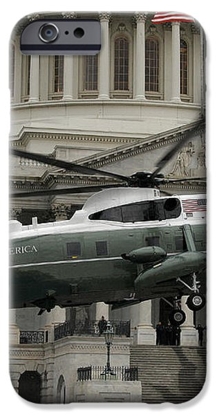 A Vh-60 Helicopter Lands In Front iPhone Case by Stocktrek Images