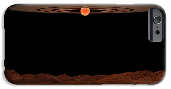 Disc iPhone Cases - A View Across A Hypothetical Barren iPhone Case by Walter Myers