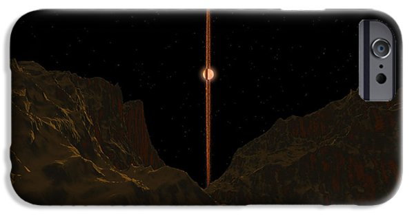 Disc iPhone Cases - A View Across A Hypothetical Primitive iPhone Case by Walter Myers