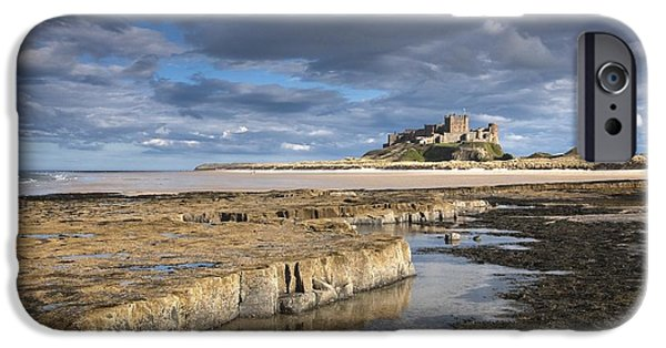 Design Pics - iPhone Cases - A View Of Bamburgh Castle Bamburgh iPhone Case by John Short