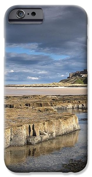 A View Of Bamburgh Castle Bamburgh iPhone Case by John Short