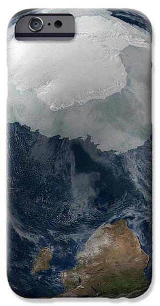 A View Of The Earth With The Full iPhone Case by Stocktrek Images