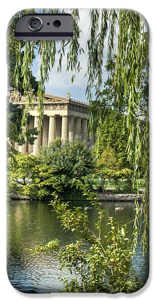 Willow Lake iPhone Cases - A View of the Parthenon 10 iPhone Case by Douglas Barnett