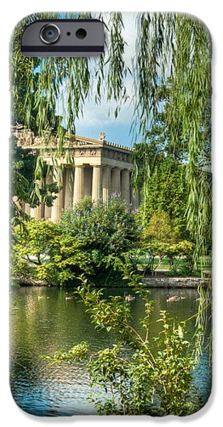 Willow Lake iPhone Cases - A View of the Parthenon 11 iPhone Case by Douglas Barnett