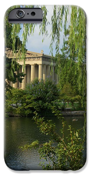 Willow Lake iPhone Cases - A View of the Parthenon 3 iPhone Case by Douglas Barnett