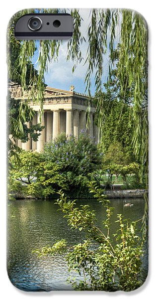 Willow Lake iPhone Cases - A View of the Parthenon 5 iPhone Case by Douglas Barnett