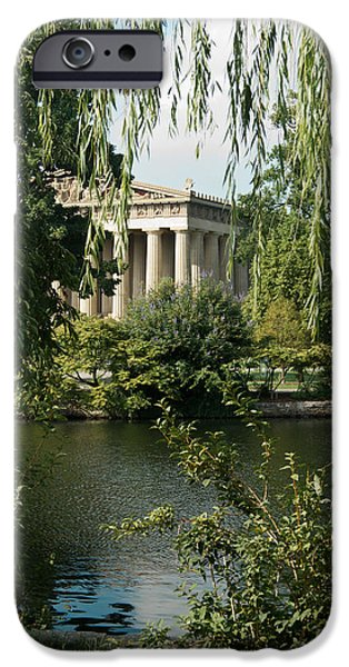 Willow Lake iPhone Cases - A View of the Parthenon 6 iPhone Case by Douglas Barnett