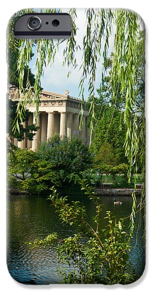 Willow Lake iPhone Cases - A View of the Parthenon 9 iPhone Case by Douglas Barnett