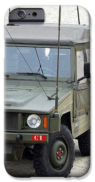 A Vw Iltis Jeep Of A Unit Of Belgian iPhone Case by Luc De Jaeger