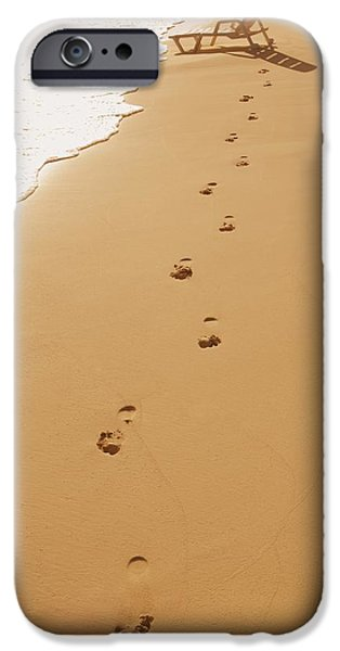 Empty Chairs iPhone Cases - A Walk On The Beach iPhone Case by Don Hammond