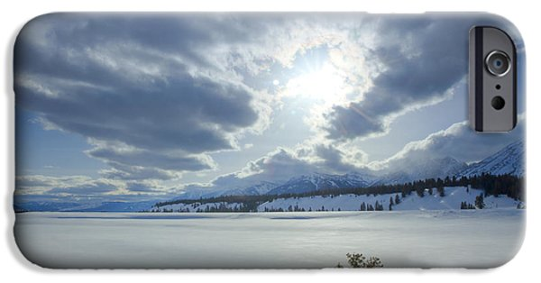 Trees In Snow iPhone Cases - A Winter Sky iPhone Case by Idaho Scenic Images Linda Lantzy