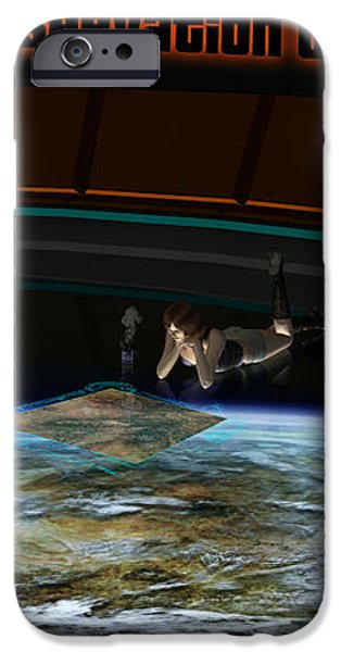 A Woman Studies The World iPhone Case by Frieso Hoevelkamp