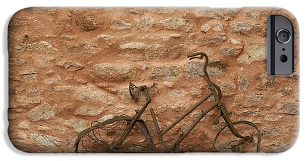 Genocides iPhone Cases - Abandoned Bike iPhone Case by Nomad Art And  Design