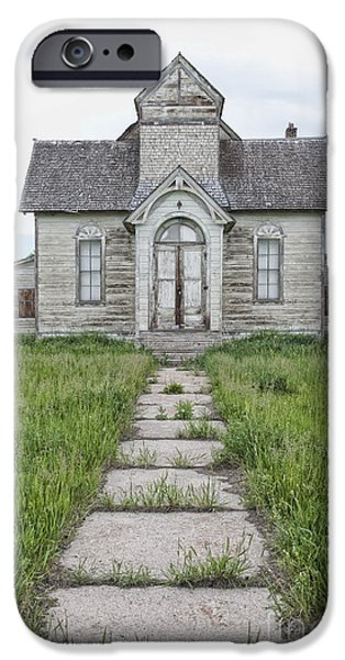 Abandoned Countryside Church iPhone Case by Dave & Les Jacobs