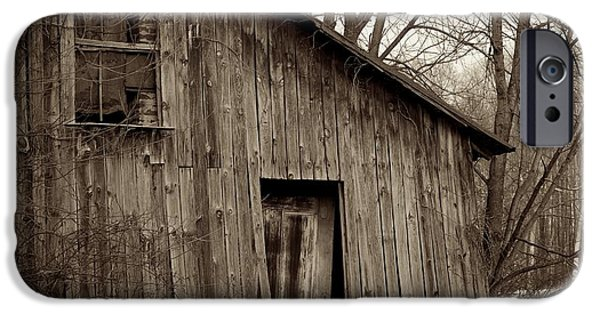 Built Structure iPhone Cases - Abandoned Farmstead Facade iPhone Case by John Stephens