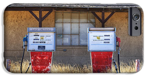 Not In Service iPhone Cases - Abandoned Gas Pumps and Station iPhone Case by Dave & Les Jacobs