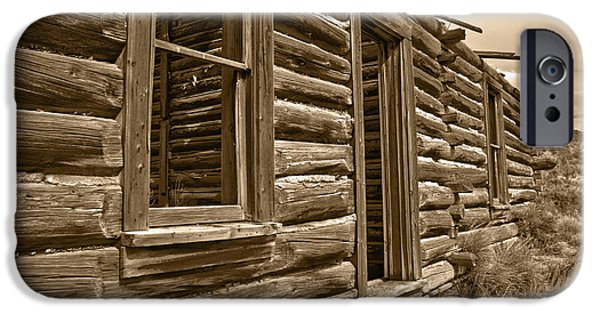 Cabin Window iPhone Cases - Abandoned iPhone Case by Shane Bechler