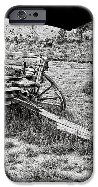 ABANDONED WAGONS of BANNACK MONTANA GHOST TOWN iPhone Case by Daniel Hagerman