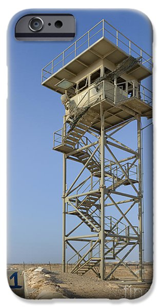 Abandoned Watchtower in the Desert iPhone Case by Noam Armonn