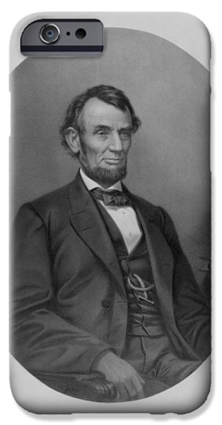 American History iPhone Cases - Abe Lincoln iPhone Case by War Is Hell Store