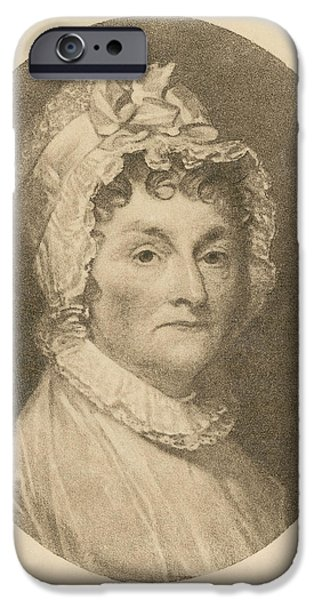 First Lady iPhone Cases - Abigail Adams iPhone Case by Photo Researchers