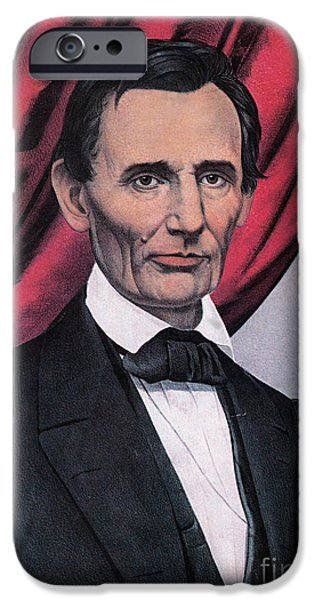 Slavery Abolition iPhone Cases - Abraham Lincoln, Republican Candidate iPhone Case by Photo Researchers