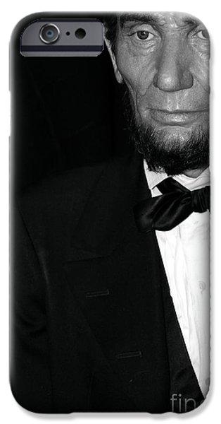 Statue Portrait iPhone Cases - Abraham Lincoln iPhone Case by Sophie Vigneault