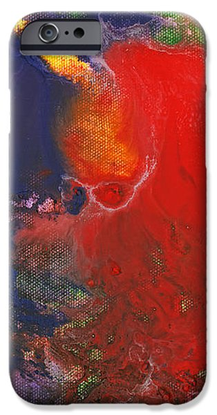 Abstract - Crayon - Andromeda iPhone Case by Mike Savad