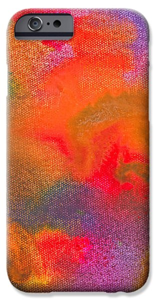 Abstract - Crayon - Melody iPhone Case by Mike Savad