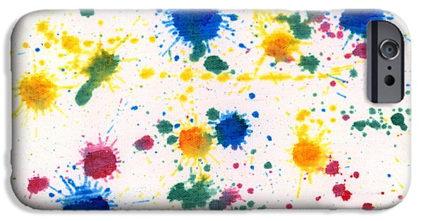 Disorder iPhone Cases - Abstract - Gesso and Food color - My new carpet iPhone Case by Mike Savad