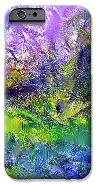 Abstract Digital Photographs iPhone Cases - Abstract 16 iPhone Case by Pamela Cooper