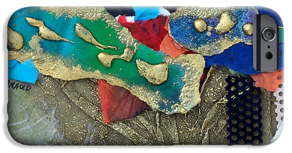 Multimedia Mixed Media iPhone Cases - Abstract 2011 No.1 iPhone Case by Kathy Braud